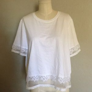 Topshop lace tee